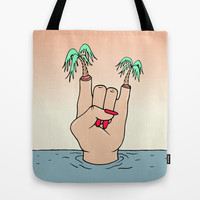 ROCK THE BEACH Tote Bag by Wesley Bird