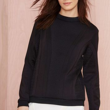Cameo The Throw Neoprene Sweatshirt