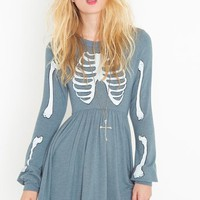 Skeleton Babydoll Dress