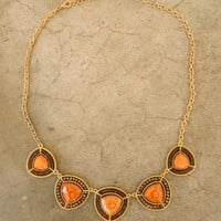 Autumn Field Necklace [3296] - $22.00 : Vintage Inspired Clothing & Affordable Fall Frocks, deloom | Modern. Vintage. Crafted.