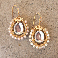 Looking Glass Earrings [3303] - $14.00 : Vintage Inspired Clothing &amp; Affordable Fall Frocks, deloom | Modern. Vintage. Crafted.
