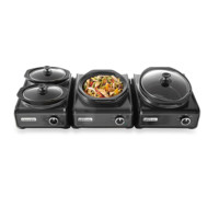 Crock-Pot® Hook Up™ Connectable Entertaining Systems in Charcoal