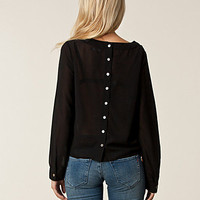 Garner Black Button Top, Rut m.fl.