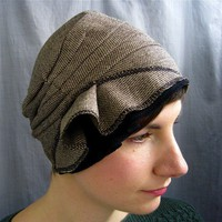 wool cloche espresso by lizarietz on Etsy