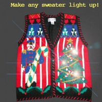 Shop Now! Ugly Sweaters: Make your Tacky Ugly Christmas Sweater a Light-Up Sweater with LED Light Kit (Multicolored 10) $10 - The Ugly Sweater Shop