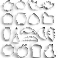Wilton Halloween Metal Cookie Cutters, 18 Piece Set - Bakeware - Kitchen - Macy's