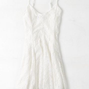 AEO Women's Don't Ask Why Fit & Flare Lace Dress