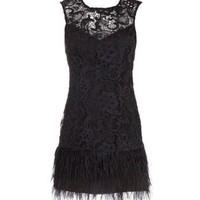 Lipsy V I  P Waxed Lace Feather Dress