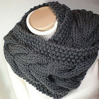 Bitten by Bella Cowl Circle Scarf Pattern Chunky DIY PDF