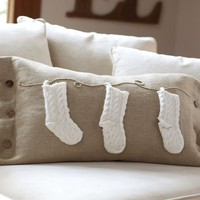 Knit Stocking Lumbar Pillow Cover