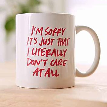 Literally Don't Care Mug- Pink One