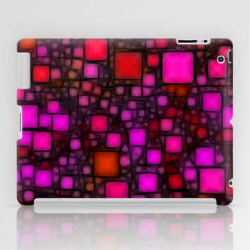 Post It Pink Glow iPad Case by Alice Gosling
