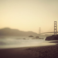 Golden Gate Bridge, San Francisco Photograph, California, Sunset  - Evening Suspended