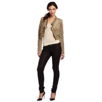 BCBGMAXAZRIA Women`s Norton Contrast Back Draped Jacket $198.00
