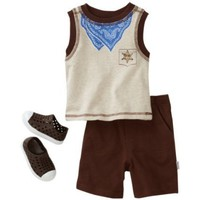 Vitamins Baby Boy Infant Sheriff Three-Piece Short Set With Shoe $36.00