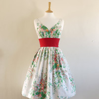 Floral Bouquet Print Sweetheart Prom Dress size by digforvictory