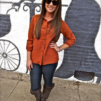 Caramel 3/4 Sleeve Tunic | The Rage