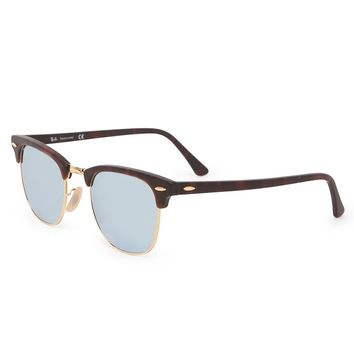 Ray-Ban Club Master Flash Sunglasses - Womens Sunglasses - Brown - NOSZ