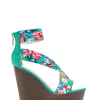 Pleats To Meet You Bias Strap Wedges