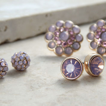 Three Thistle Earring Set