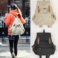Fashion Vintage Casual Canvas Backpack Rucksack Book School Campus Shoulder Bag