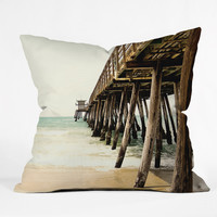Bree Madden Down By The Pier Throw Pillow - Indoor /