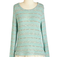 ModCloth Mid-length Long Sleeve Screenplay Socialite Sweater