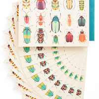 ModCloth Rustic Arthropods and Ends Notecard Set