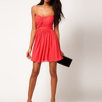 ASOS Mini Skater Dress with Sweetheart Neck at asos.com