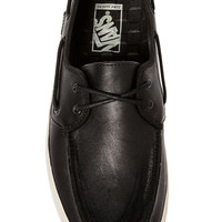 The Chauffeur Boat Shoe in Black Leather