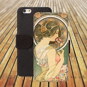 iphone 5 5s case Ancient beauty diagram iphone 4/ 4s iPhone 6 6 Plus iphone 5C Wallet Case , iPhone 5 Case, Cover, Cases colorful pattern L106