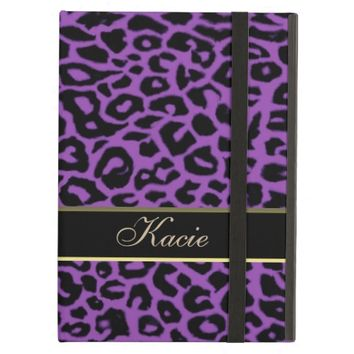 Personalized Purple Animal Leopard iPad Air Case