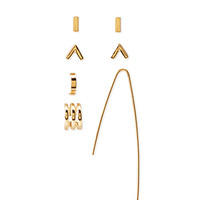 Abstract Stud and Earcuff Set
