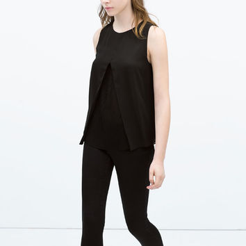 Double layer pleated top