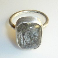 Tourmalated Quartz Ring by DeafCatStudios on Etsy