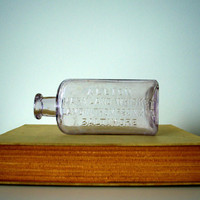 Vintage glass bottle light purple Albion Whiskey by SCAVENGENIUS