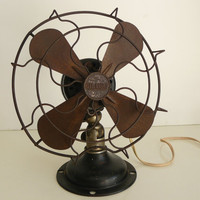 vintage 1930's GILBERT fan by artyfactz on Etsy
