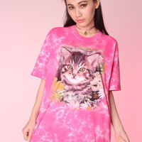 Glitters For Dinner — Kitty Face Tee in Large