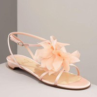Christian Louboutin Petal crepe satin pink sandals - &amp;#36;215.00