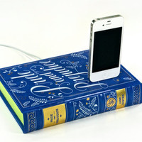 Pride and Prejudice Book Charger - iPhone 4S and iPod Dock
