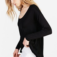 Silence + Noise Woven V-Back Tee - Urban Outfitters