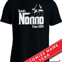 Funny Grandpa Shirt Gifts For Grandfathers Family T Shirt The Nonno Joke Mens Tee MD-211