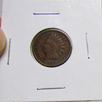 Vintage Indian Head Penny 1898 (You Grade)( In 2X2 Holder)