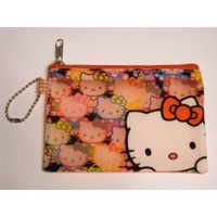 Hello Kitty Coin Keychain Purse with Zipper