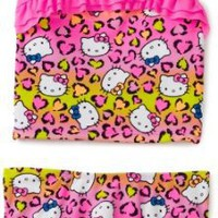 Hello Kitty Girls 2-6X Toddler Animal Ruffle Tankini Set $34.00