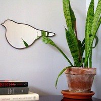 $34 Bird Wall Mirror No 4 by fluxglass on Etsy