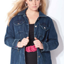 Denim 24/7 Plus Size Quirky Girl Ruffle Jacket $26.99
