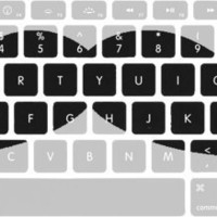 Large Mustache Macbook Keyboard Stickers