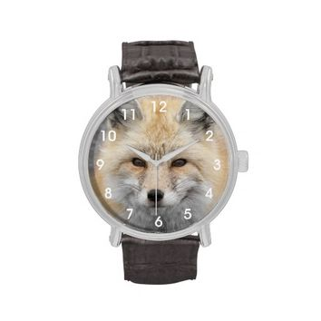 Red Fox Wrist Watch