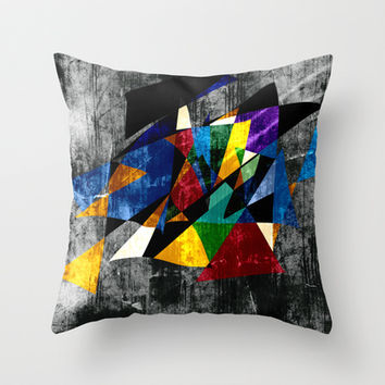 Abstract II Throw Pillow by Sanja Amic
